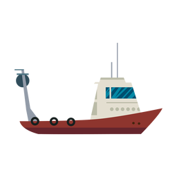 Linea de barco de pesca