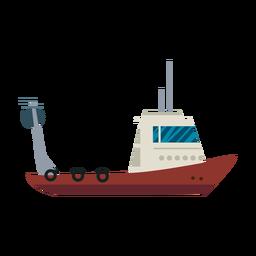 Linha de barco de pesca