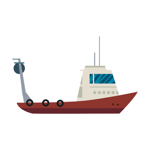 Fishing boat line Transparent PNG
