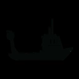 Silhueta de barco de pesca