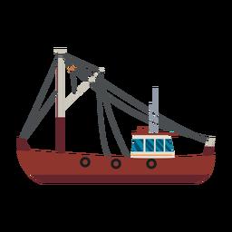 Icono de barco de pesca de arrastre