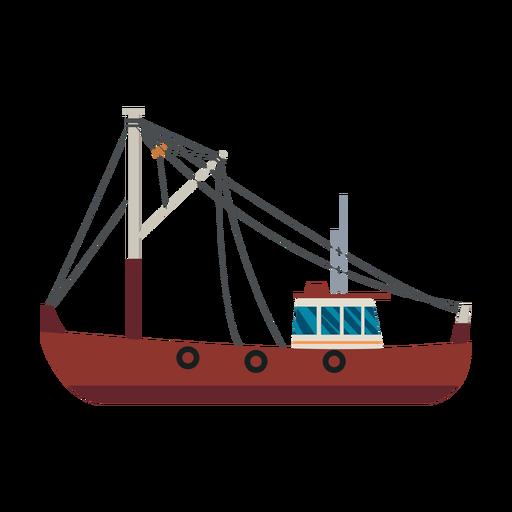 Ícone de navio traineira de pesca Transparent PNG