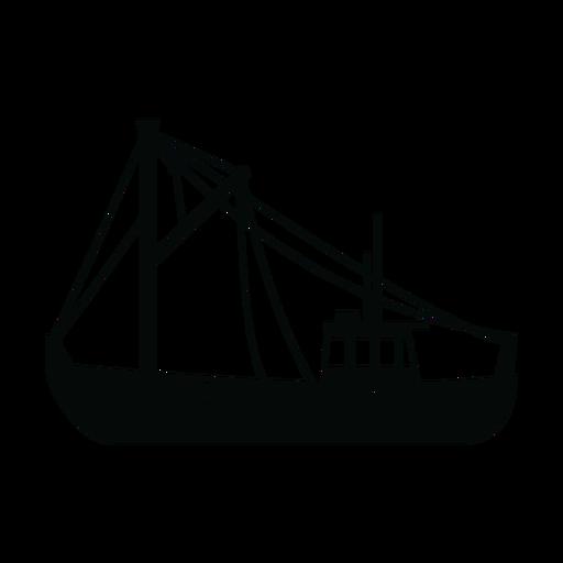 Pesca de la nave arrastrera silueta Transparent PNG
