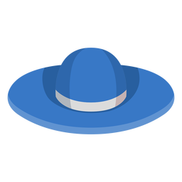 Floppy beach hat icon