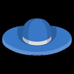 Icono de sombrero de playa floppy