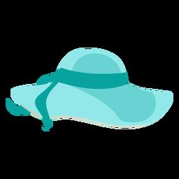 Chapéu de praia flexível com fita