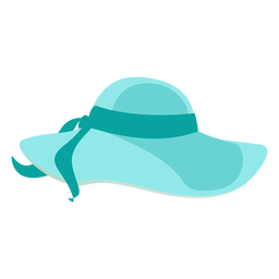 Floppy beach hat with ribbon