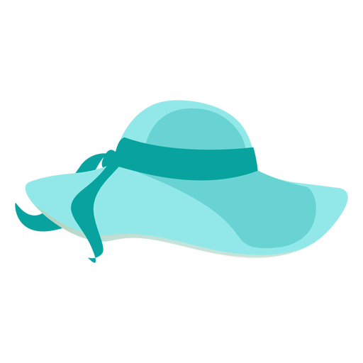 Floppy beach hat with ribbon Transparent PNG