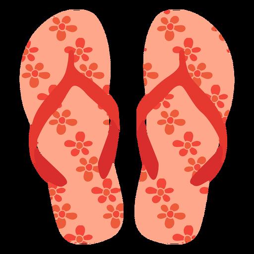 Flower pattern flip flops Transparent PNG