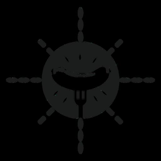 Gráfico bifurcado de la camiseta de la salchicha Transparent PNG