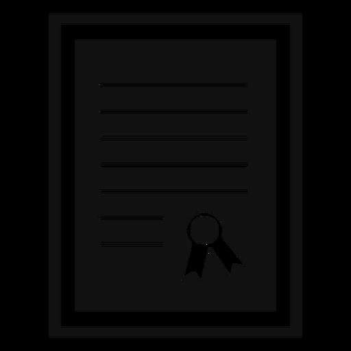 Framed diploma flat Transparent PNG
