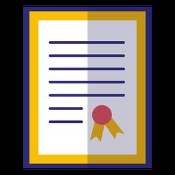 Ícone de diploma emoldurado