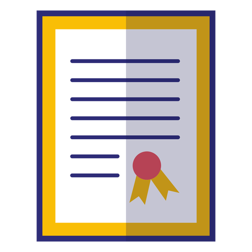 Framed diploma icon Transparent PNG