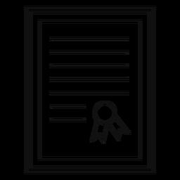 Framed diploma silhouette