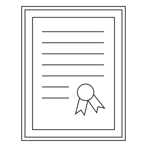 Framed diploma silhouette Transparent PNG