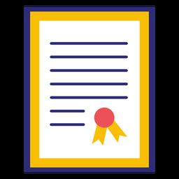 Diploma universitário emoldurado