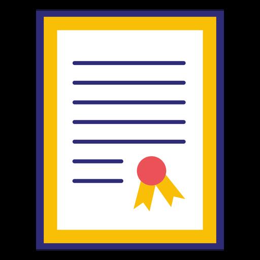 Framed university diploma Transparent PNG