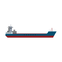 Garbage scow ship icon