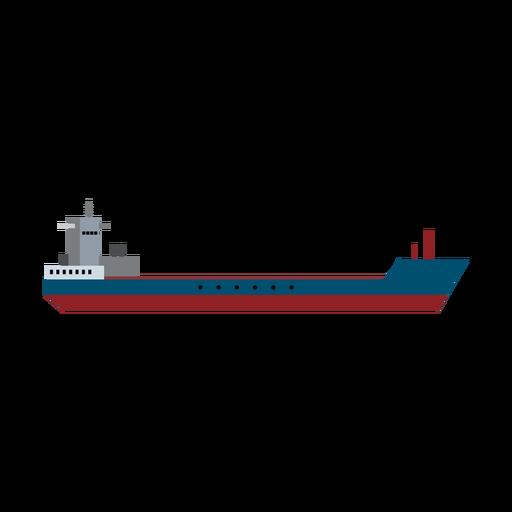 Garbage scow ship icon