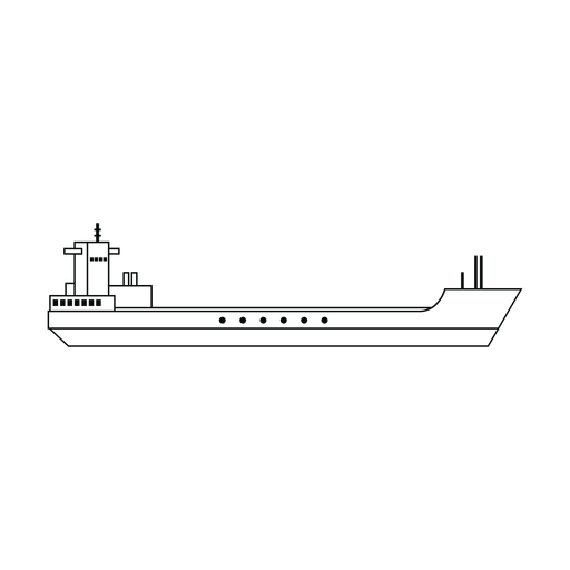 Garbage scow ship line Transparent PNG