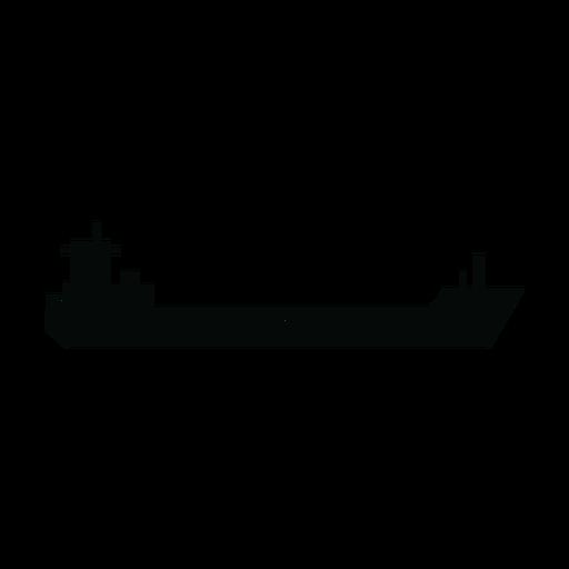 Garbage scow ship silhoiette Transparent PNG