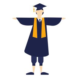 Graduado celebrando ilustración básica