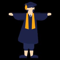 Graduado comemorando a ilustração básica