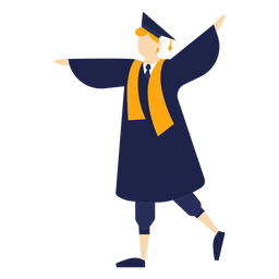 Graduado animando ilustración básica