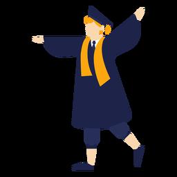 Ilustração básica torcendo de pós-graduação
