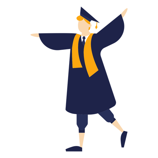 Graduate cheering basic illustration Transparent PNG