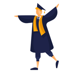Graduate flat illustration