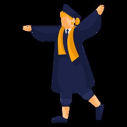 Ilustração plana de pós-graduação
