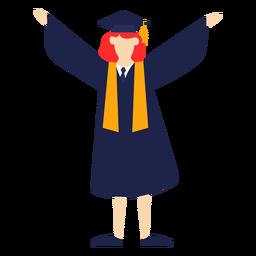 Graduado de levantamiento de manos con ilustración básica.