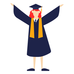 Graduate lifting hands basic illustration