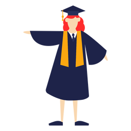 Graduate posing basic illustration