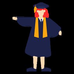 Pós-graduação posando ilustração básica