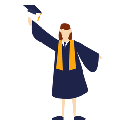 Graduate throwing hat basic illustration