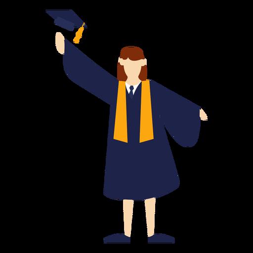 Graduate throwing hat basic illustration Transparent PNG