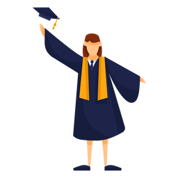 Graduate throws cap basic illustration