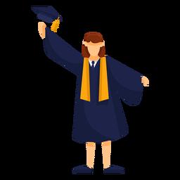 Graduate throws cap basic illustration