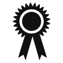 Graduation award ribbon flat