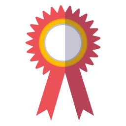 Graduation award ribbon icon