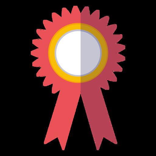 Graduation award ribbon icon