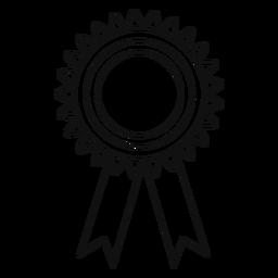 Línea de cinta de premio de graduación