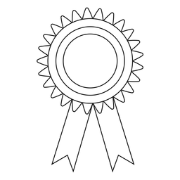 Linha de fita de prêmio de formatura