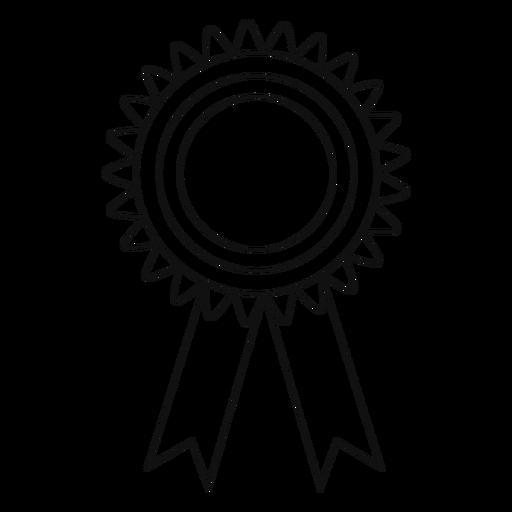 Graduation award ribbon line Transparent PNG