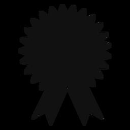 Silhueta de fita de prêmio de formatura