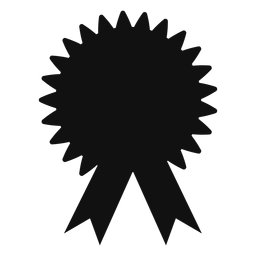Silueta de cinta de premio de graduación