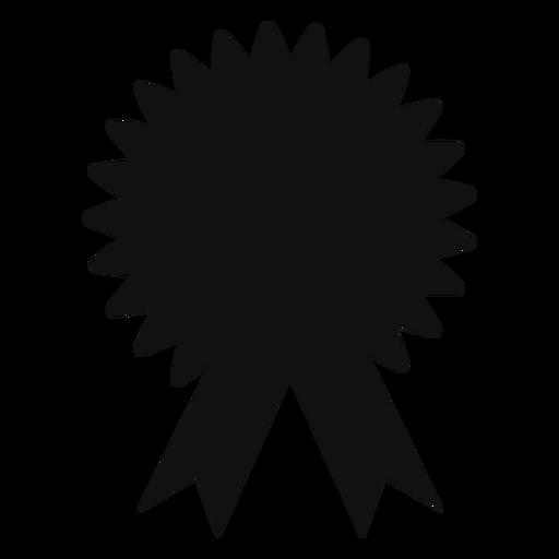 Graduation award ribbon silhouette