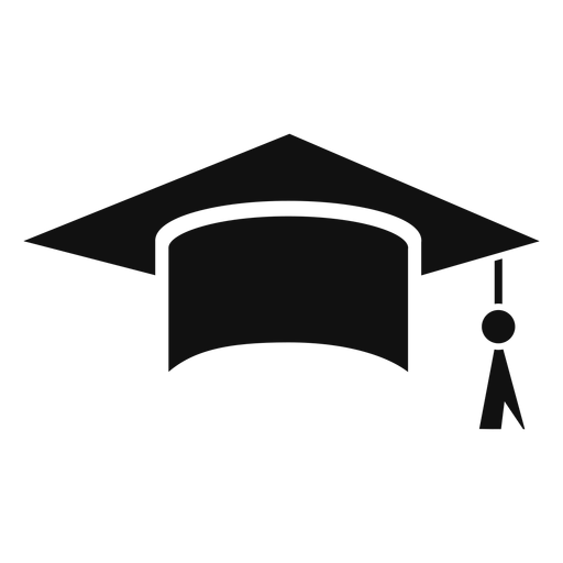 Graduation cap flat - Transparent PNG & SVG vector file